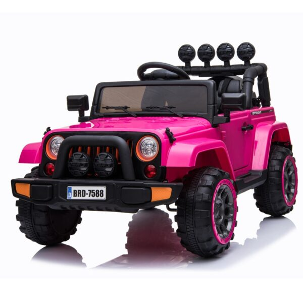 pink electric ride on car truck for kids