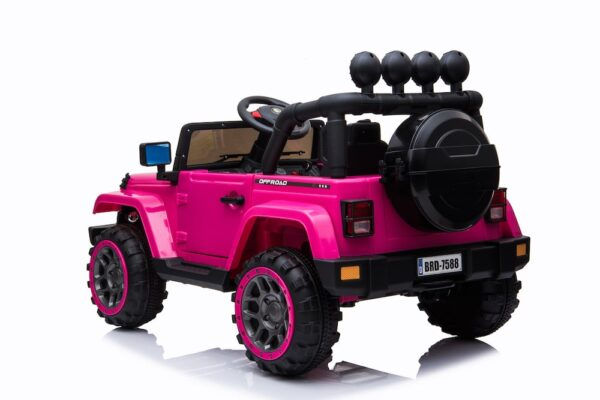 pink electric ride on car truck wheels for kids