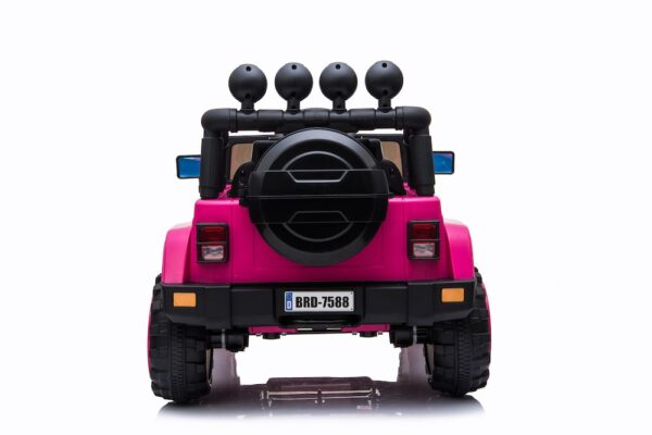 pink electric ride on car truck for kids remote control