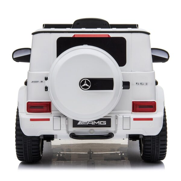 white 12v kids electric ride on car mercedes g63 amg toy