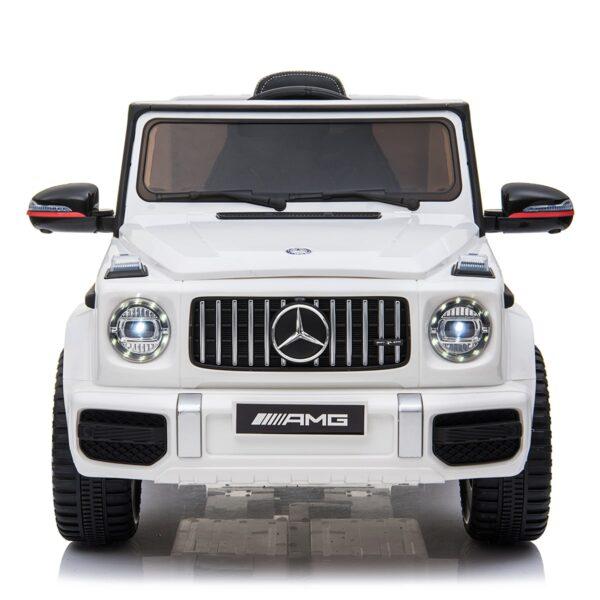 white 12v kids electric ride on car mercedes g63 amg