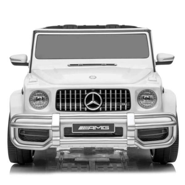 front of 2 seater g63 ride on car white