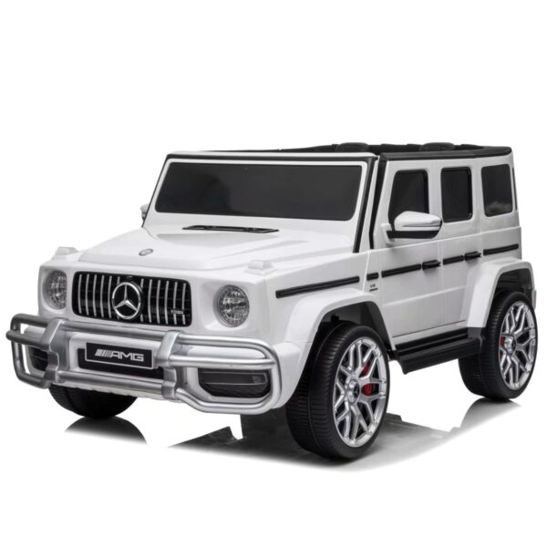 2 seater mercedes benz ride on car g63 white
