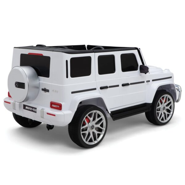 rear mercedes g63 amg 2 seater ride on car white