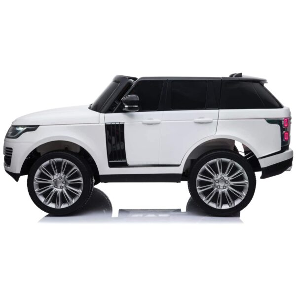 side electric ride on car for kids white range rover